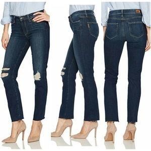 PAIGE Jacqueline Straight Raw Hem High Rise Jeans